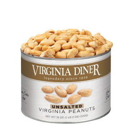 Unsalted Gourmet Virginia Peanuts 18 oz. Classic Tin