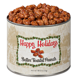 Butter Toasted Virginia Peanuts  40 oz. Holiday Tin