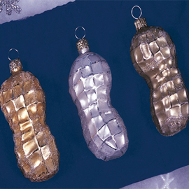 Christopher Radko Peanut Ornaments Set of 3