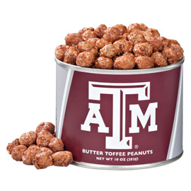 10 oz. Texas A&M Butter Toffee Peanuts