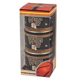 Wake Forest Basketball Triplet (3 Salted Peanuts)