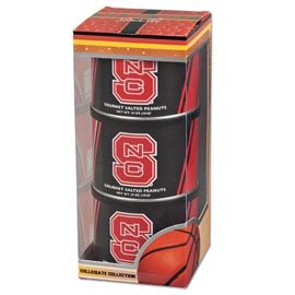 NC State Basketball Triplet (3 Salted Peanuts)