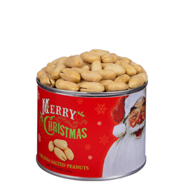 Salted Gourmet Virginia Peanuts 10 oz. Christmas Label