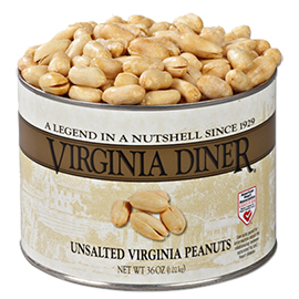 Unsalted Gourmet Virginia Peanuts 36 oz. Classic Tin